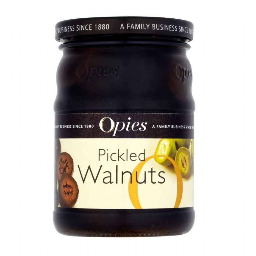 Opies Pickled Walnuts in Barley Malt Vinegar 390g